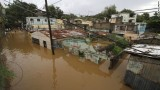 Houses are flooded out in the neighborhood of La Javilla in Santo Domingo, the capital of Dominican Republic, on Friday, October 26 (CNN).