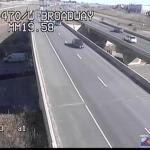 A CDOT camera shows an ambulance arriving to the scene of an accident that injured two pedestrians on South Broadway near the entrance ramp to C-470 on Nov. 20, 2012. (Photo: CDOT)