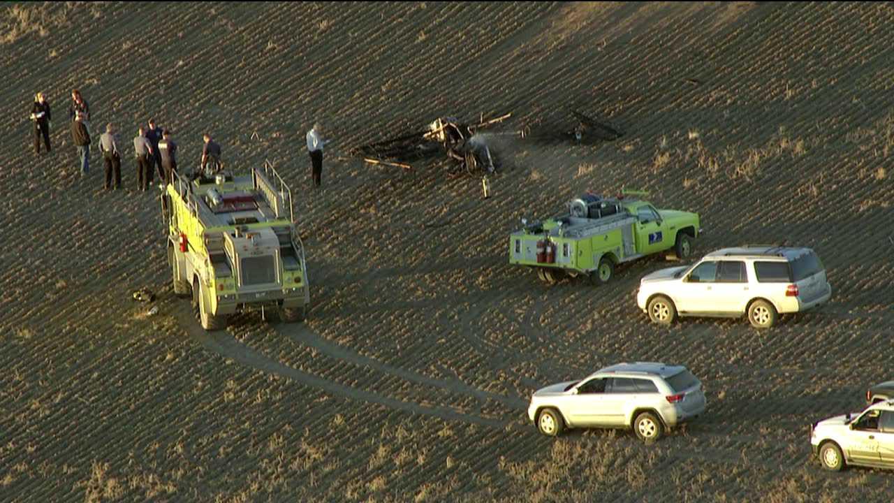 Plane crash at Front Range Airport in Watkins, Colo. Nov. 21, 2012