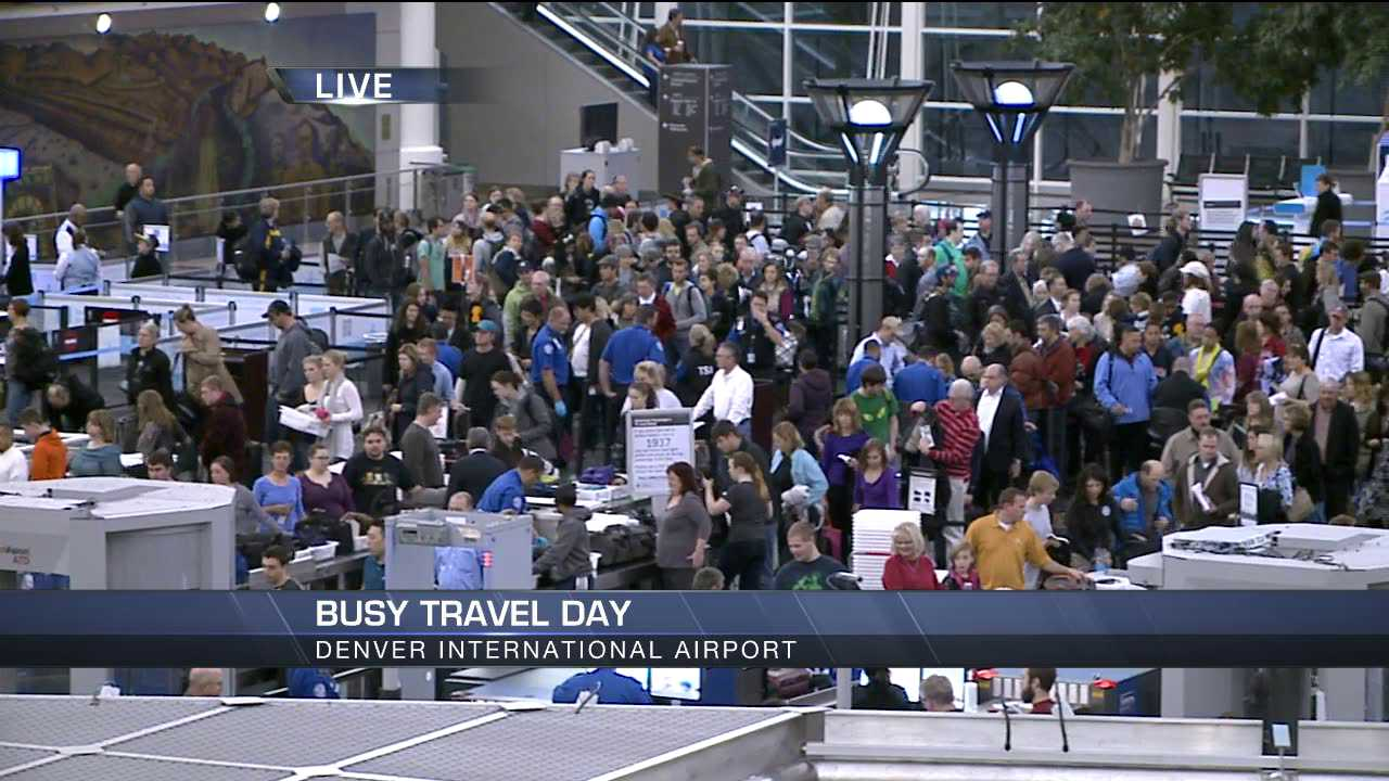 Security lines at DIA at 7 a.m.