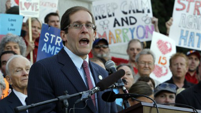 Colorado House Speaker Mark Ferrandino will be one of seven openly gay lawmakers to register for a civil union after a bill legalizing the practice is signed into law on March 21, 2013.