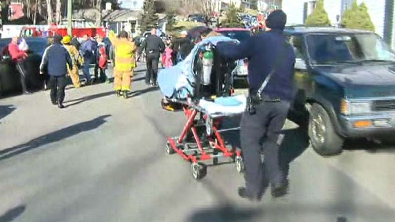 A view of the scene at Sandy Hook Elementary School after the shooting. (Photo: CNN)