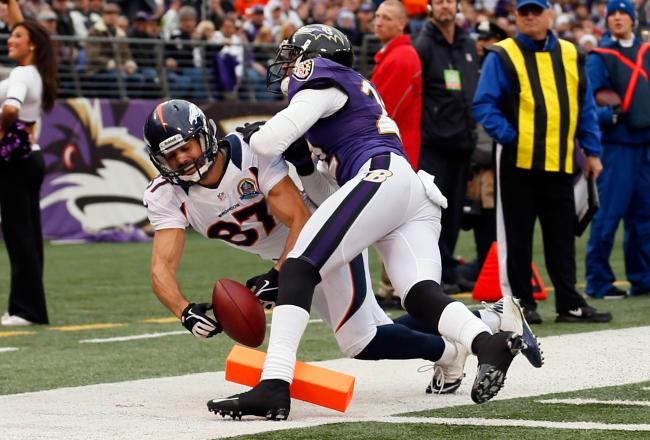 Broncos take on Ravens Dec. 16, 2012. (Rob Carr/Getty Images)