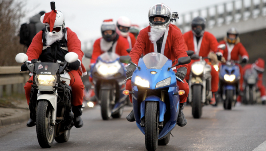 A few thousand Santa Clauses ride between Gdansk and Gdynia, Poland, on Sunday, December 9. Santa Clauses rode on scooters, motorcycles and all-terrain vehicles between the two Polish cities. (Photo: CNN)