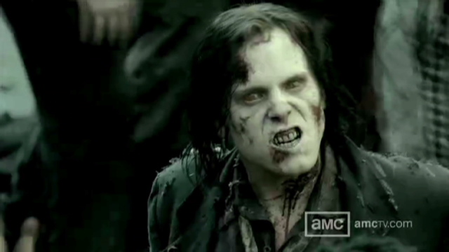 """An image from the AMC T.V. show """"The Walking Dead,"""" which moved a New York man to shoot his girlfriend. (Photo: CNN)"""