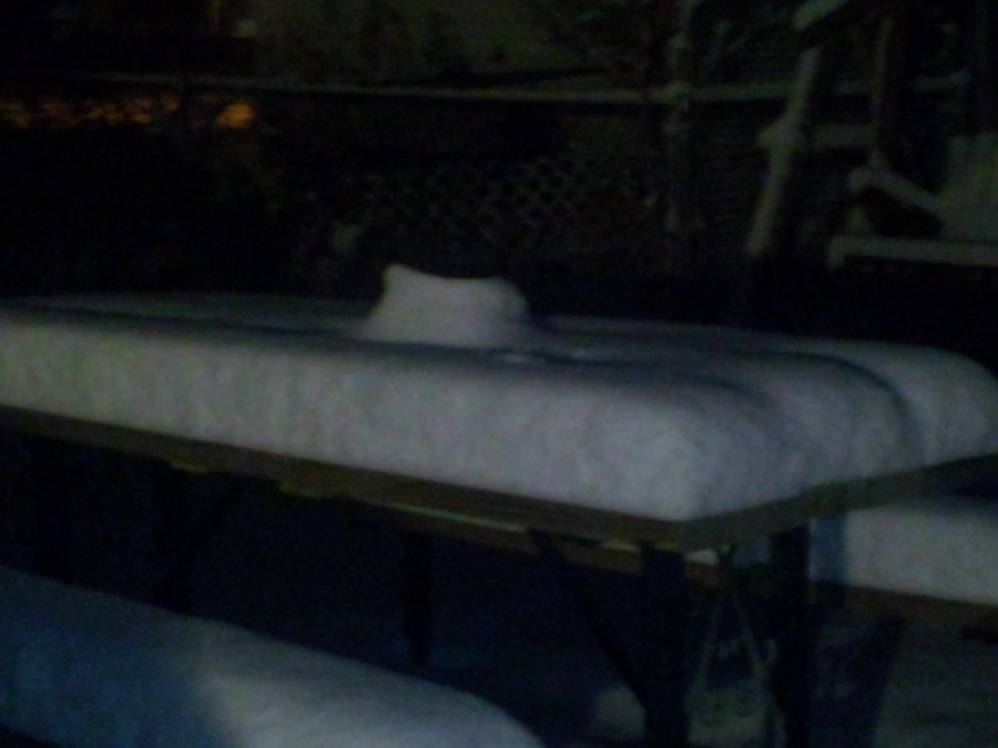 The snow was stacking up around the metro area.
