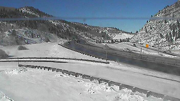 Westbound I-70 was closed just west of this location on Feb. 7, 2013 due to multiple accidents (Photo: CDOT)