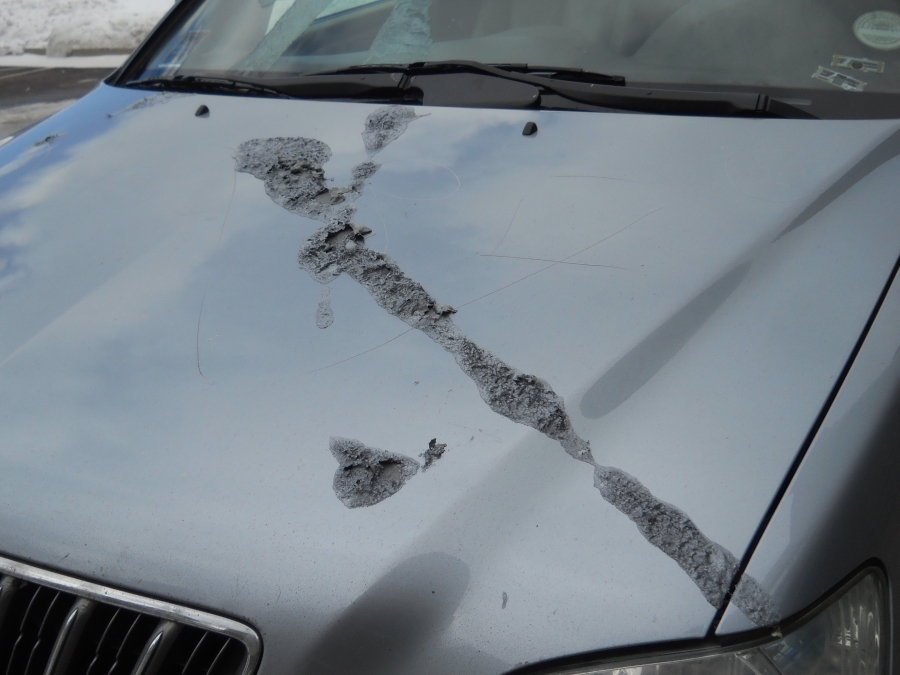 One of 17 vehicles that was vandalized in the parking lot of an Evergreen church on Jan. 29, 2013. (Photo: Jeffco Sherrif's Office)