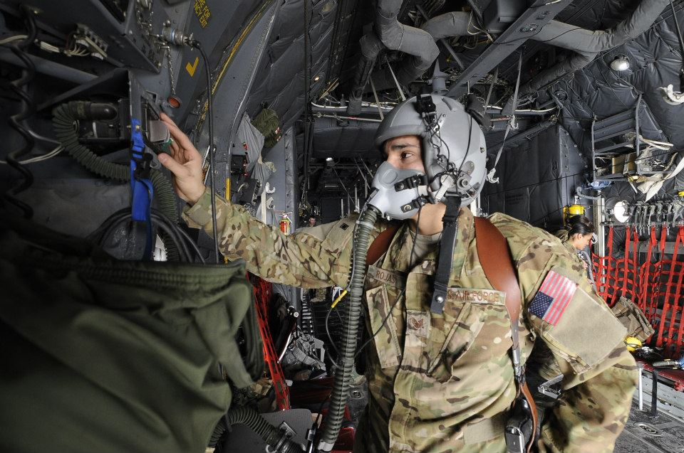 The crew retrofits the belly of a C-130 cargo plane to become a mobile emergency room in the sky.