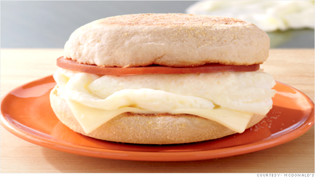 McDonald's is making a bid for health-conscious consumers with the Egg White Delight. (Credit: McDonald's)