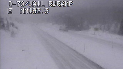 Vail Pass was getting heavy snow and wind on March 4, 2013, causing the Colorado Department of Transportation to close eastbound I-70 in the area. (Photo: CDOT)