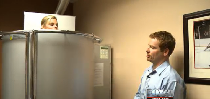 Doctors at the Cherry Creek Spine and Sport Clinic say something called Whole Body Cryotherapy uses the cold to draw blood away from your extremities and closer to your heart, enriching your blood with more oxygen.