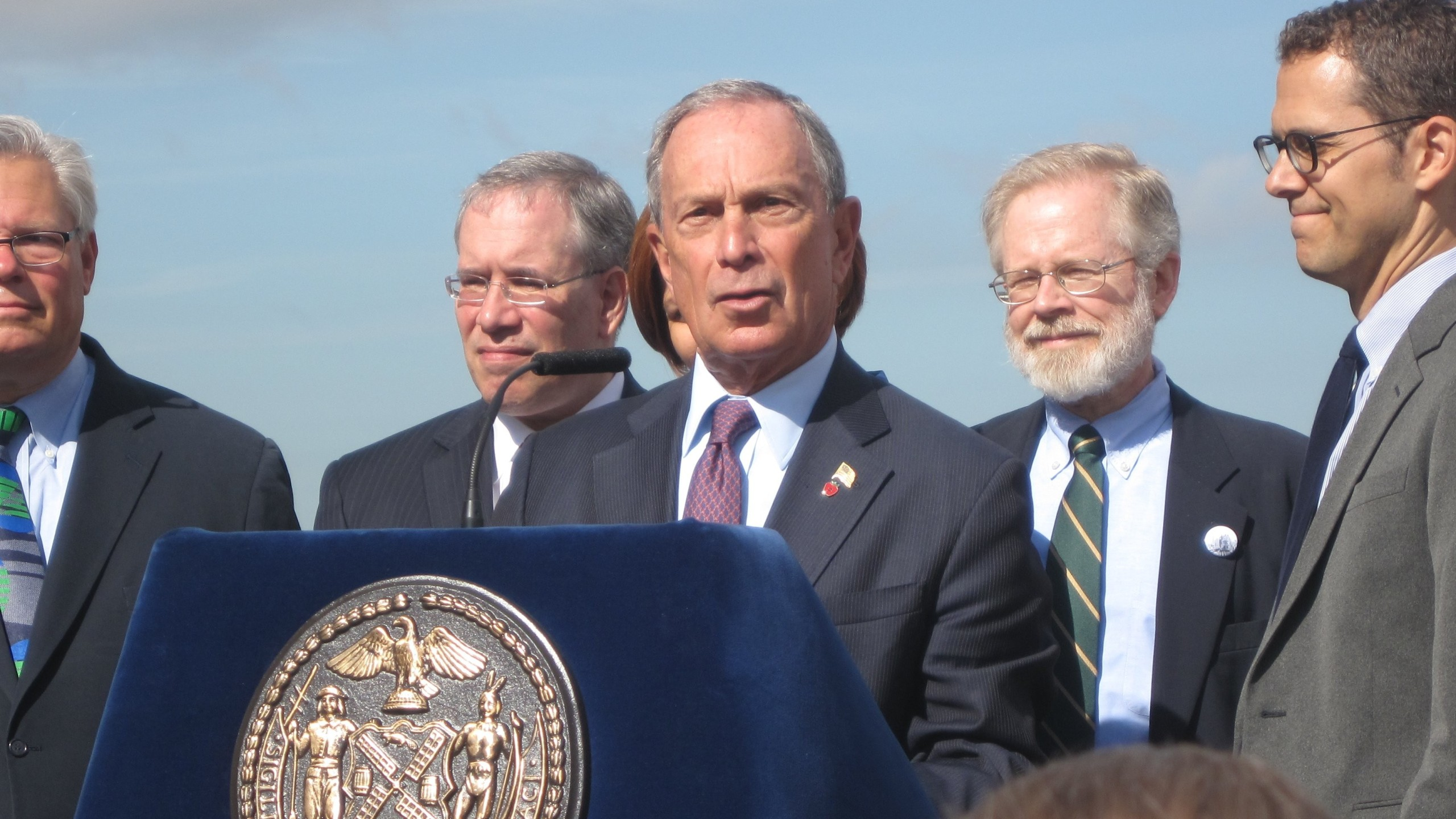 New York Mayor Michael Bloomberg speaks at a groundbreaking ceremony in 2012. (Credit: CNN)