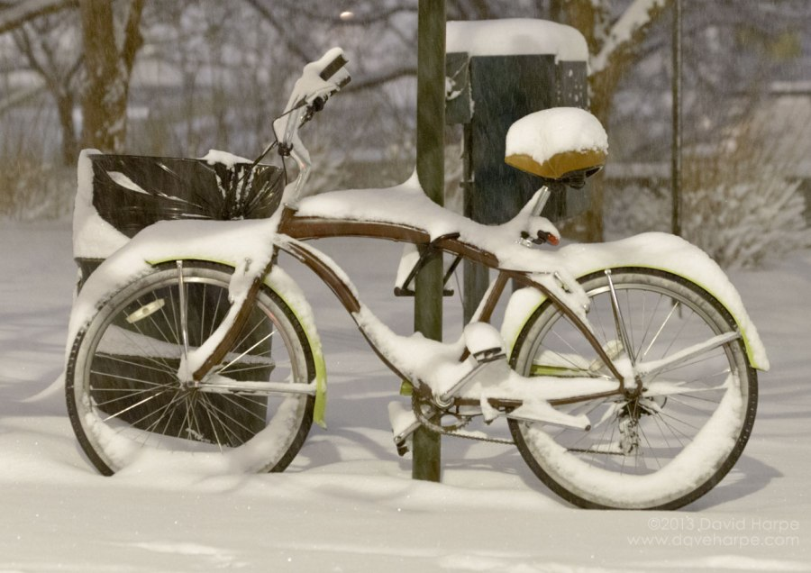 Snow will linger for at least one more day. (Credit: David Harpe)