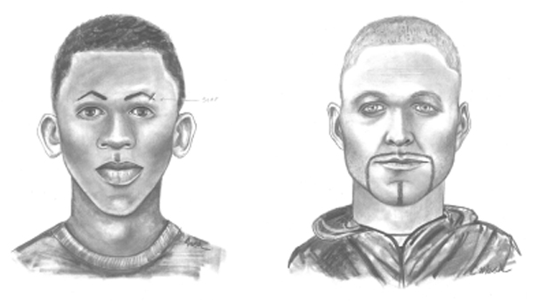A police sketch showing two suspects who allegedly sexually assaulted a man on March 10, 2013. (Photo: Denver Police Department)