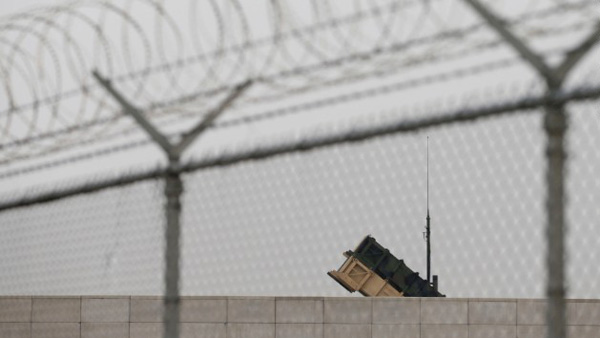 A U.S. Army Patriot missile battery is visible at the U.S. Osan Air Base in South Korea on Friday, April 5, as tensions have mounted on the Korean Peninsula. (Photo: CNN)