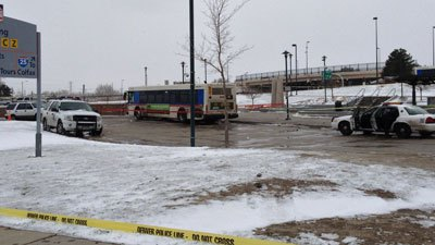 Stabbing investigated at Colfax and Federal in Denver. April 9, 2013