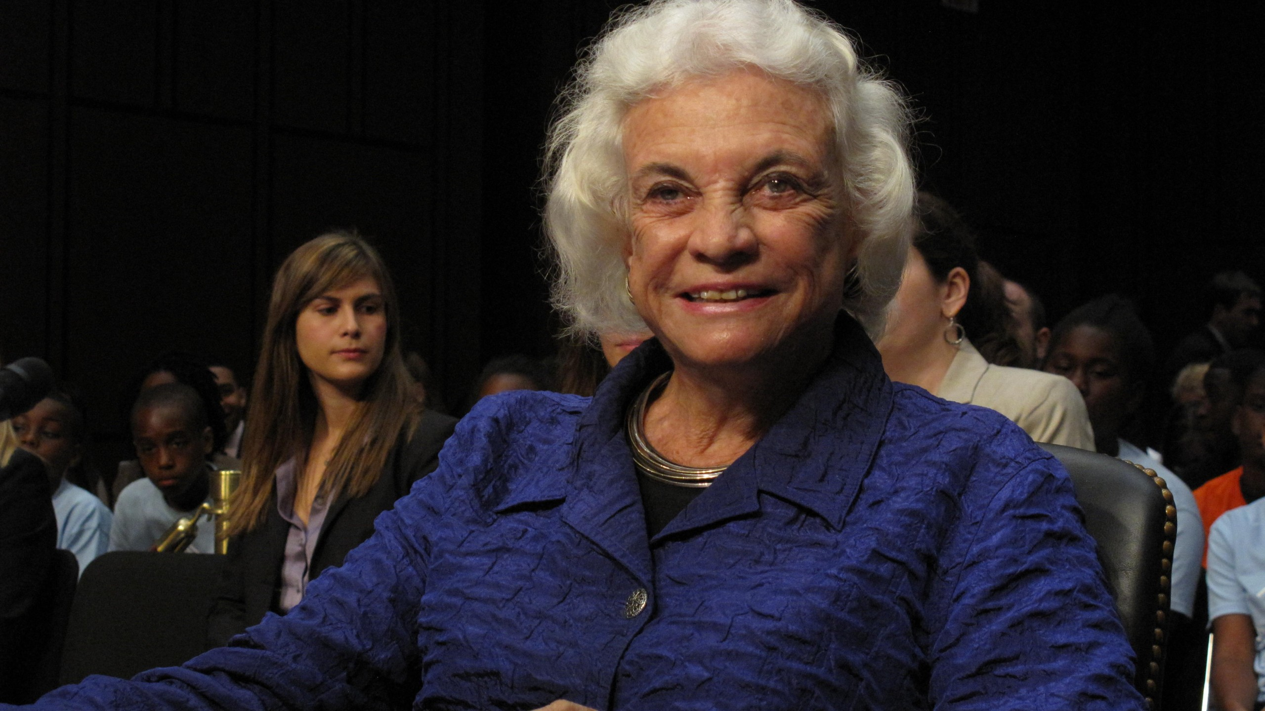 Retired Supreme Court Justice Sandra Day O'Connor testifies on Capitol Hill recently. (Credit: CNN)