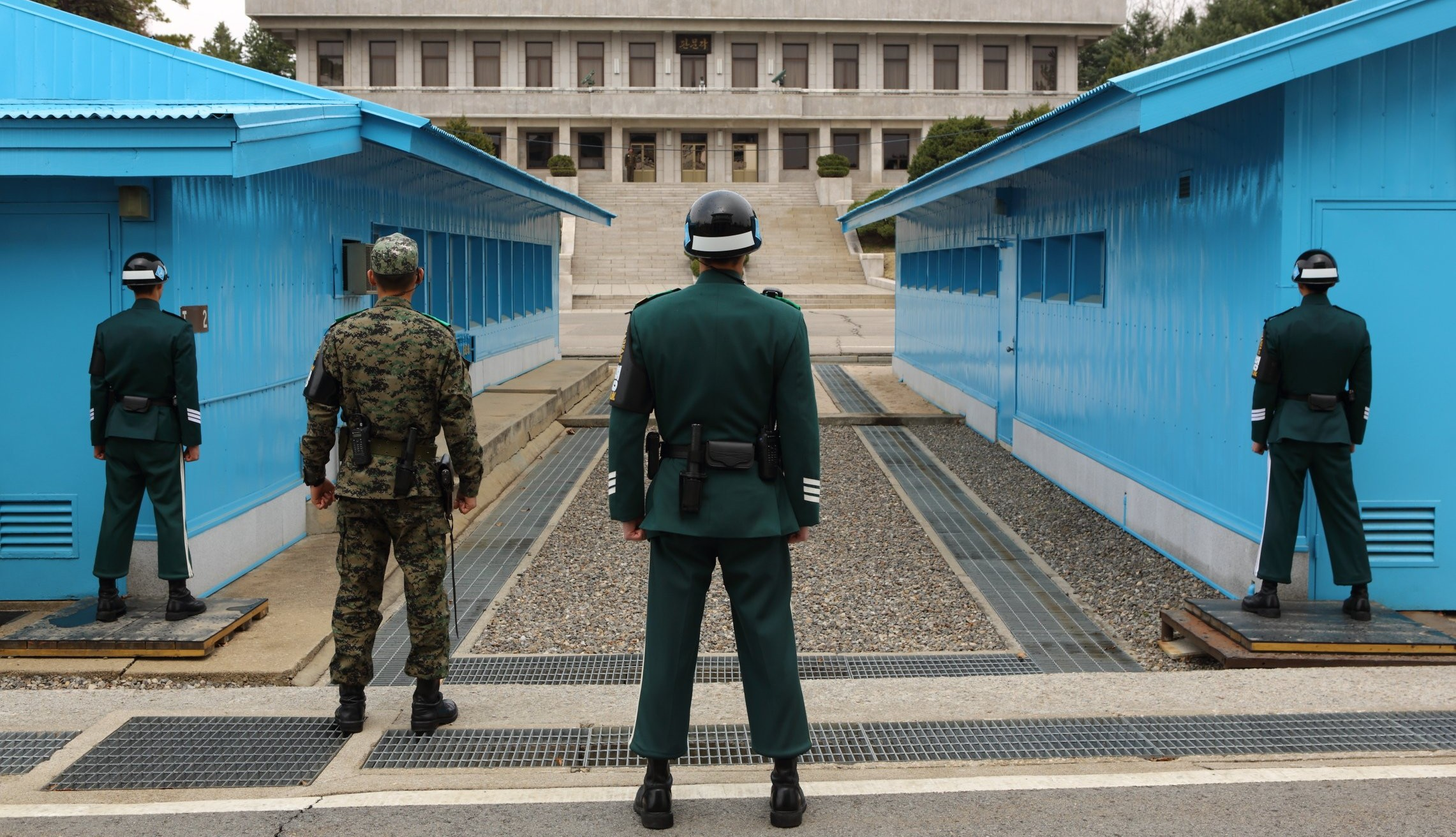 The Demilitarized Zone between North Korea and South Korea stretches for 160 miles and is approximately 2.5 miles wide. (Credit: CNN)