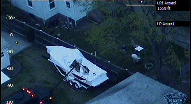 Boston bombing suspect Dzhokhar Tsarnaev apparently was unarmed when he was wounded in a barrage of gunfire that ended with his capture after a tense standoff, sources told CNN Thursday. (Credit: CNN)