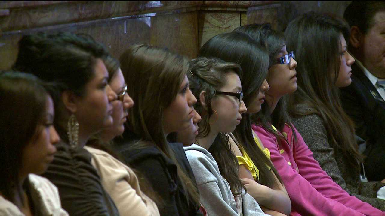 A group of undocumented students sit eagerly awaiting a vote on a bill that will now allow them to pay in-state tuition at Colorado colleges and universities.