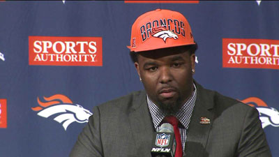 Denver Broncos first round draft choice in 2013 is defensive tackle Sylvester Williams