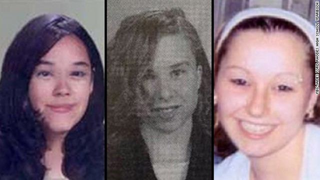 Gina DeJesus, left, Michelle Knight, center, and Amanda Berry