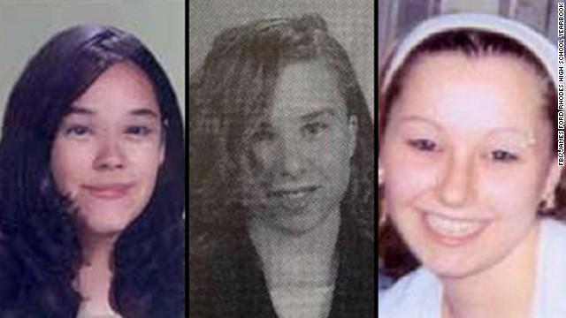 Gina DeJesus, left, Michelle Knight, center, and Amanda Berry