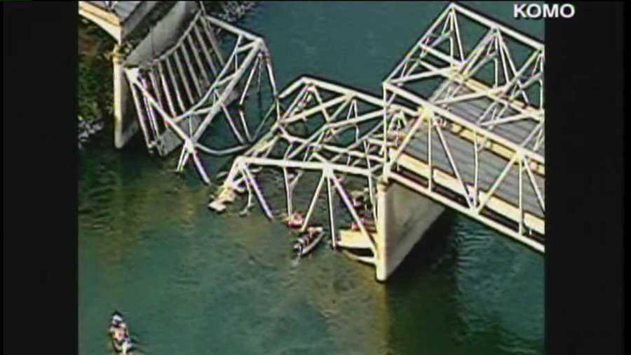 I-5 bridge collapses into Skagit River near Mt. Vernon, Wash.