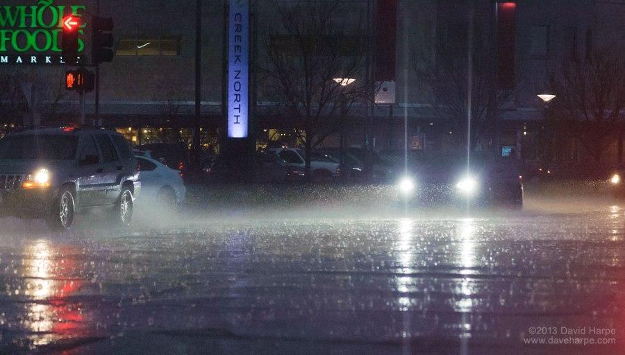 Rain in Cherry Creek. Photo: David Harpe May 7, 2013