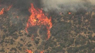 Ventura County, Calif. Wildfire. May 2, 2013. Courtesy: KTLA