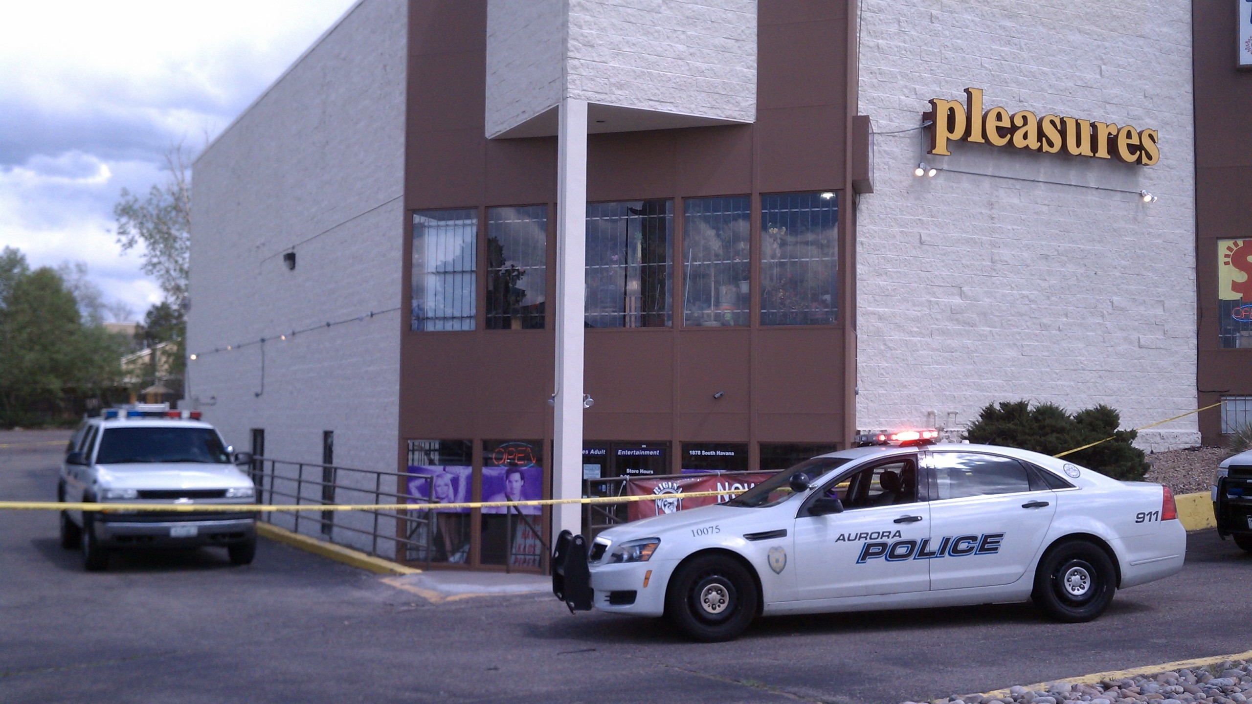 A man was shot Sunday afternoon during a robbery and shooting at an adult entertainment store in Denver.