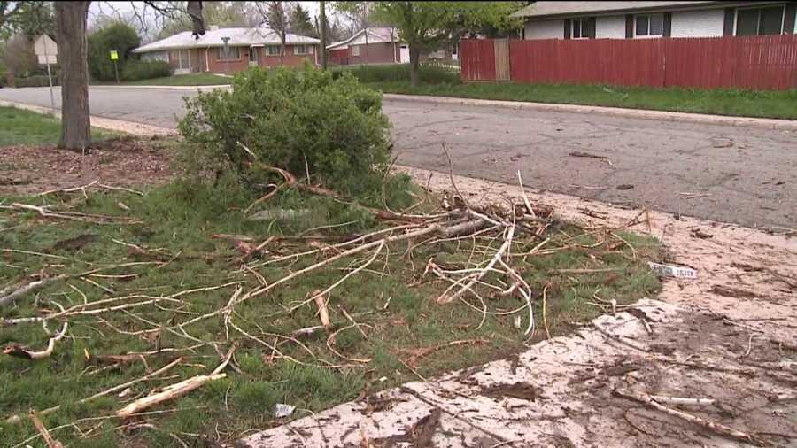 Lightning causes damage in Aurora, Colo. neighborhood. May 15, 2013