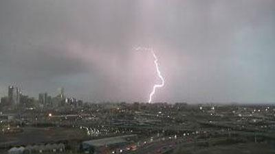 Lightning over Denver. May 7, 2013