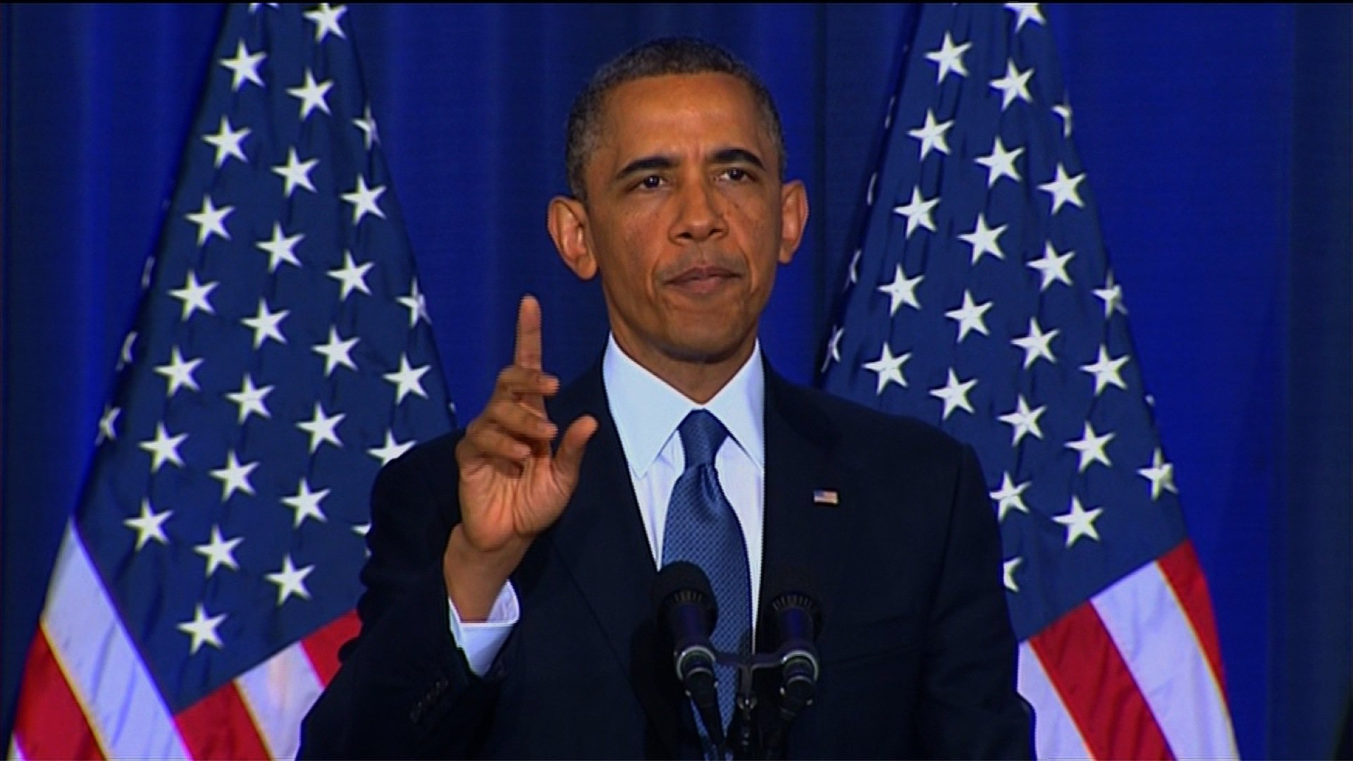 President Obama spoke Thursday on national security issues including drone strikes. (Credit: CNN)