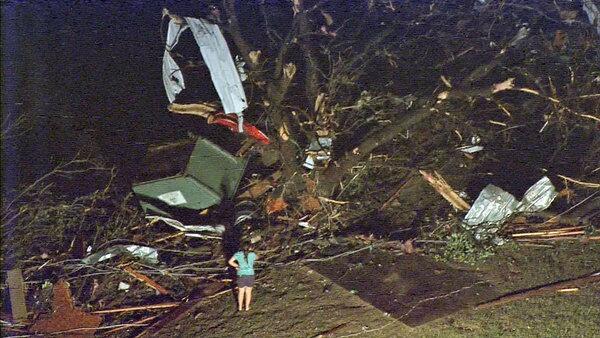 Deadly tornado hits Granbury, Texas. Photo: WFAA Dallas via Twitter