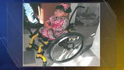 Girl's wheelchair stolen