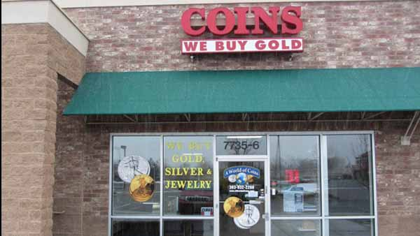 Four suspects were caught in act as they attempted to rob Littleton store World of Coins on May 23, 2013. (Photo: Google Earth)