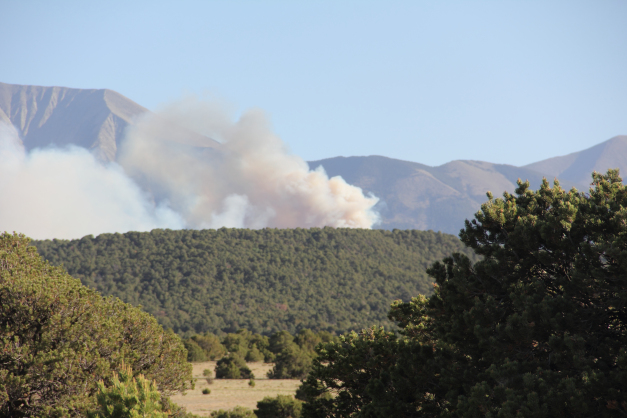 The East Peak fire, burning in southern Colorado, grew to about 12,966 acres by Monday morning.