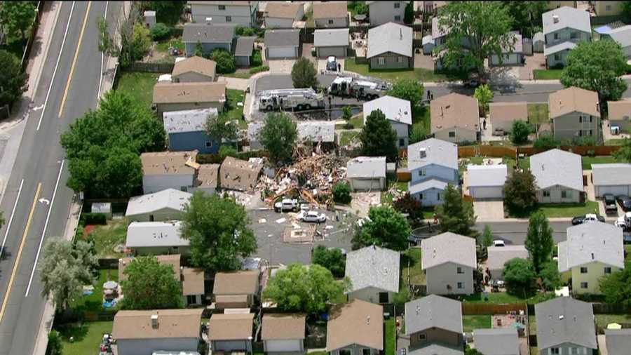 Images from the scene of a natural gas explosion that level a house in Westminster on June 13, 2013.