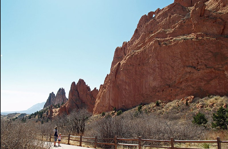 Gunfire was reported at Garden of the Gods park as a man allegedly used the majestic rock formations for target practice. (Credit: David Shankbone via Wikipedia Commons)
