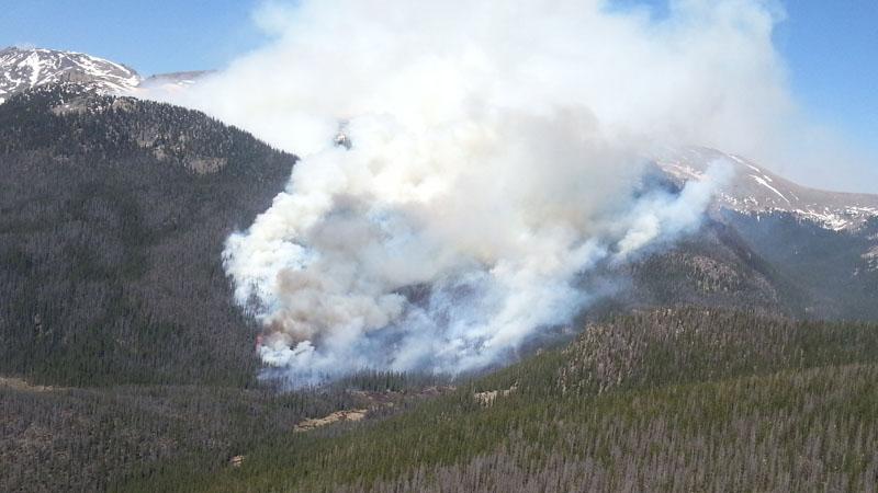 Big Meadows Fire Burns 600 Acres At Rocky Mountain