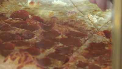Pizza at Tonti's in Parker, Colo.