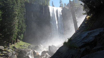 A 19-year-old was swimming near this Yosemite waterfall when he was swept over the edge on June 2, 2013. (Photo: CNN)