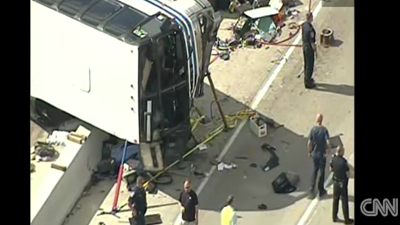 3 are dead after a summer camp bus crashed off of an Indianapolis highway on July 27, 2013