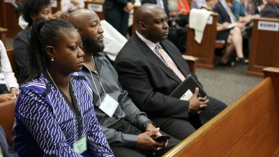Trayvon Martin's parents Sybrina Fulton, left and Tracy Martin listen to witness testimony during George Zimmerman's trial in Seminole circuit court in Sanford, Fla. Wednesday, June 26, 2013. Zimmerman has been charged with second-degree murder for the 2012 shooting death of Trayvon Martin. (Photo: CNN)