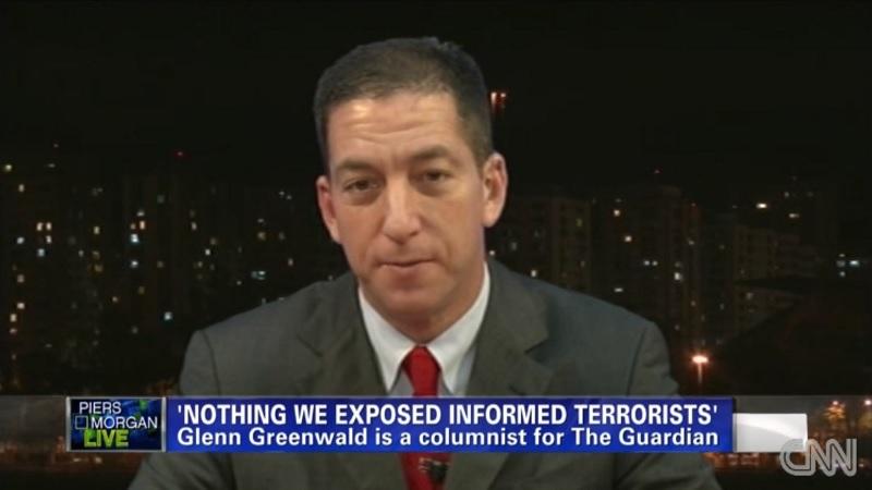 Journalist Glenn Greenwald appears on CNN recently. (Credit: CNN)