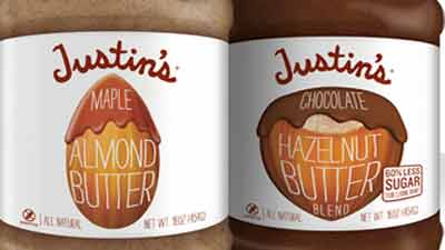 Justin's Malple Almond Butter and Chocolate Hazelnut Butter. Courtesy: Justin's