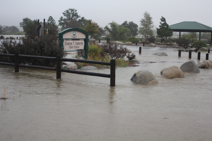 A park at 104th and Riverdale Road in Henderson was flooded out in the Valente Open Space area on Sept. 13, 2013.