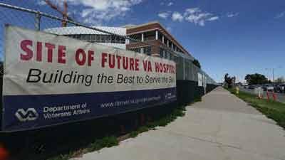 Veterans Administration Medical Center under construction
